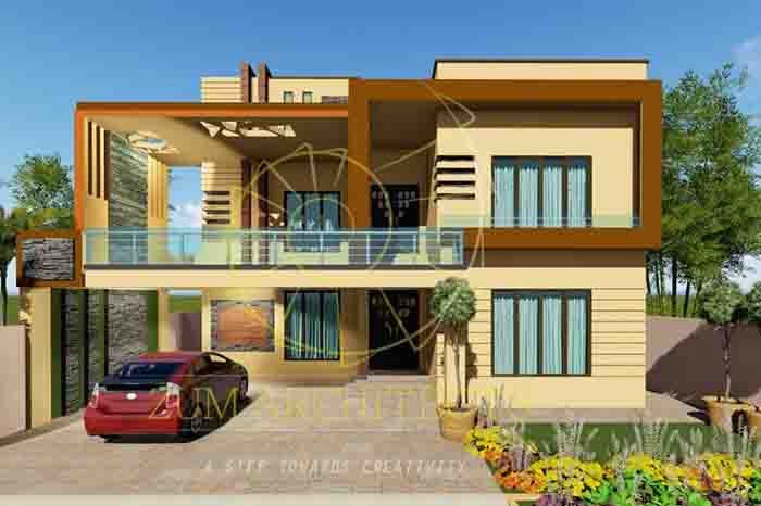 1 kanal House Design in DC Colony Gujranwala