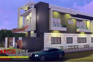 Beautiful and stylish Contemporary Modern Corner House Design in Sector G 14 Islamabad