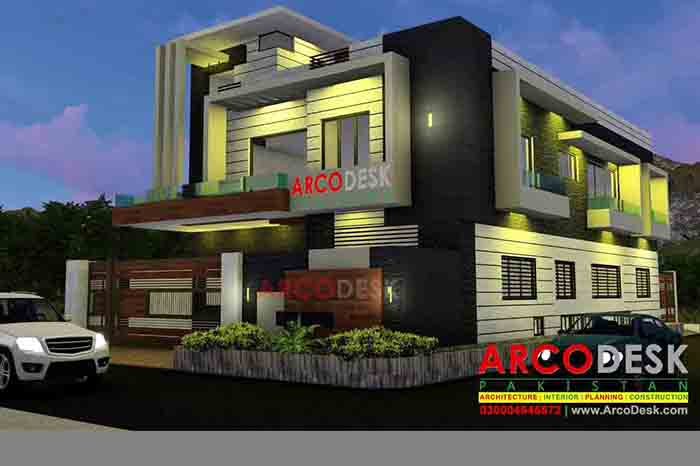 Contemporary House Design In G14 Islamabad