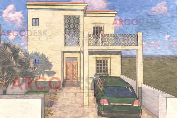 Initial House Design Proposal in Narowal