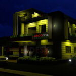 Night View House Design in G14 Islamabad