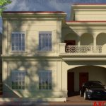 Simple Spanish House Design in Gujranwala