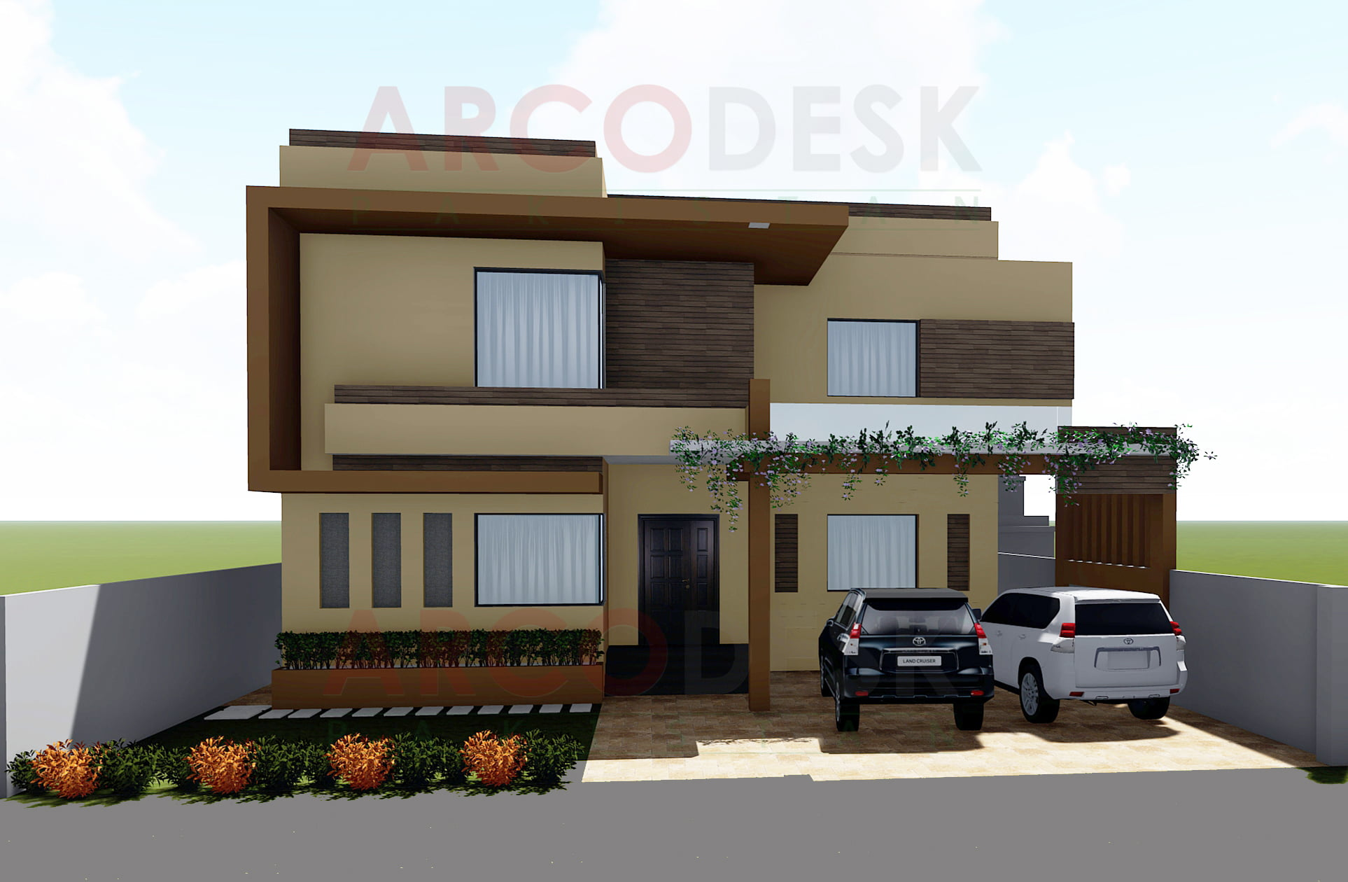 1 kanal Elegant Modern Contemprary House Design in DHA Islamabad