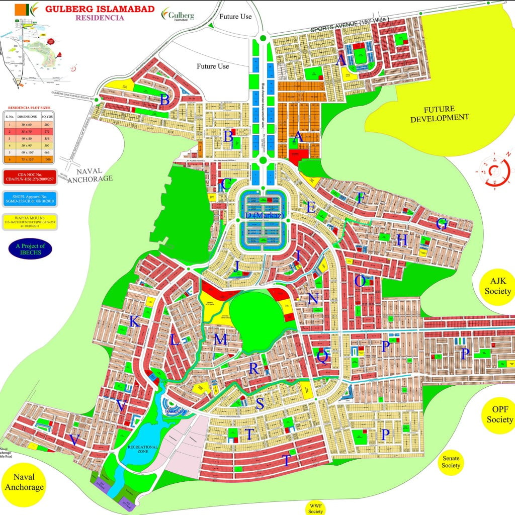 Gulberg Green Islamabad Map