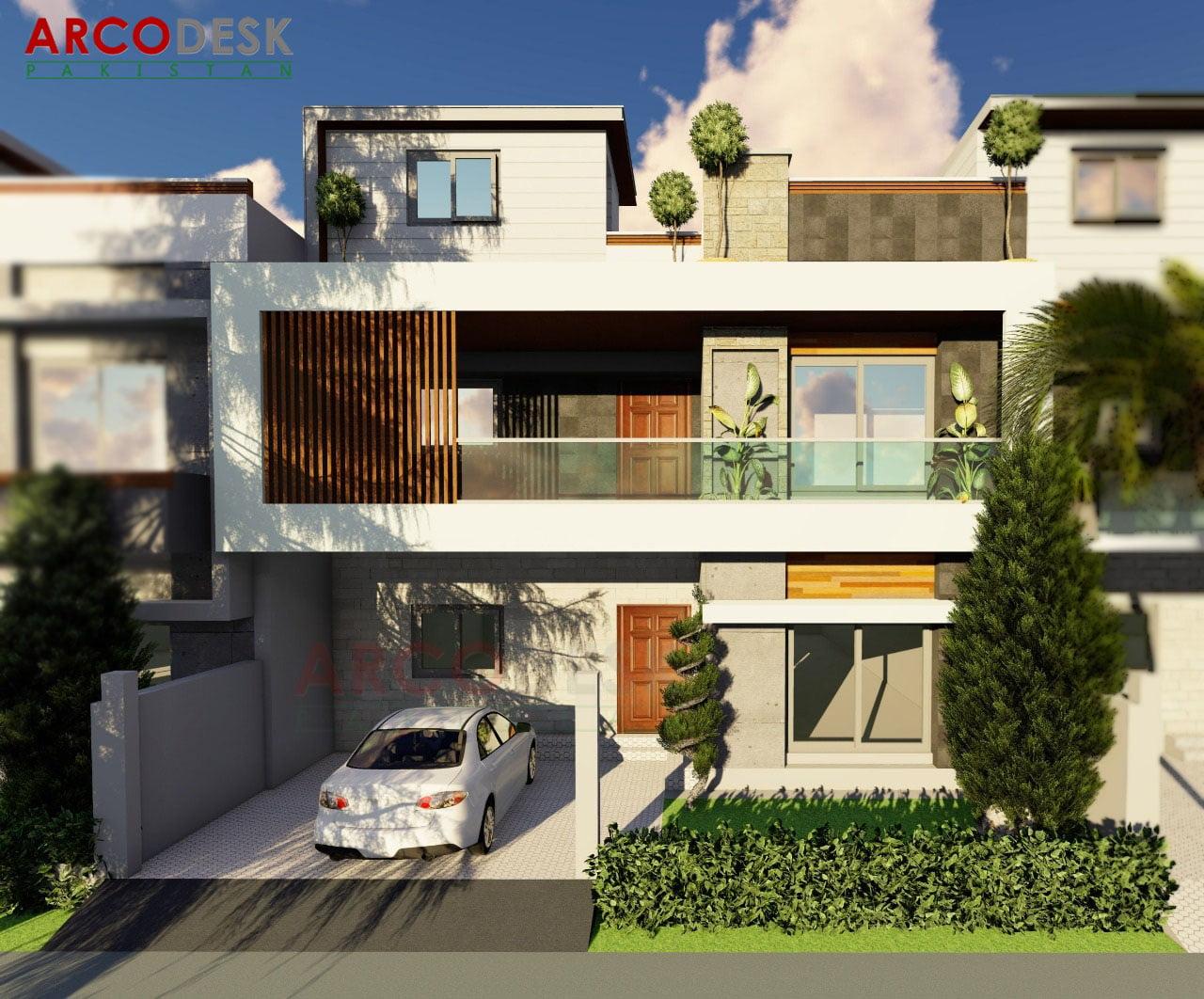 10 Marla 35x70 House Design in Multi Garden B-17 Islamabad