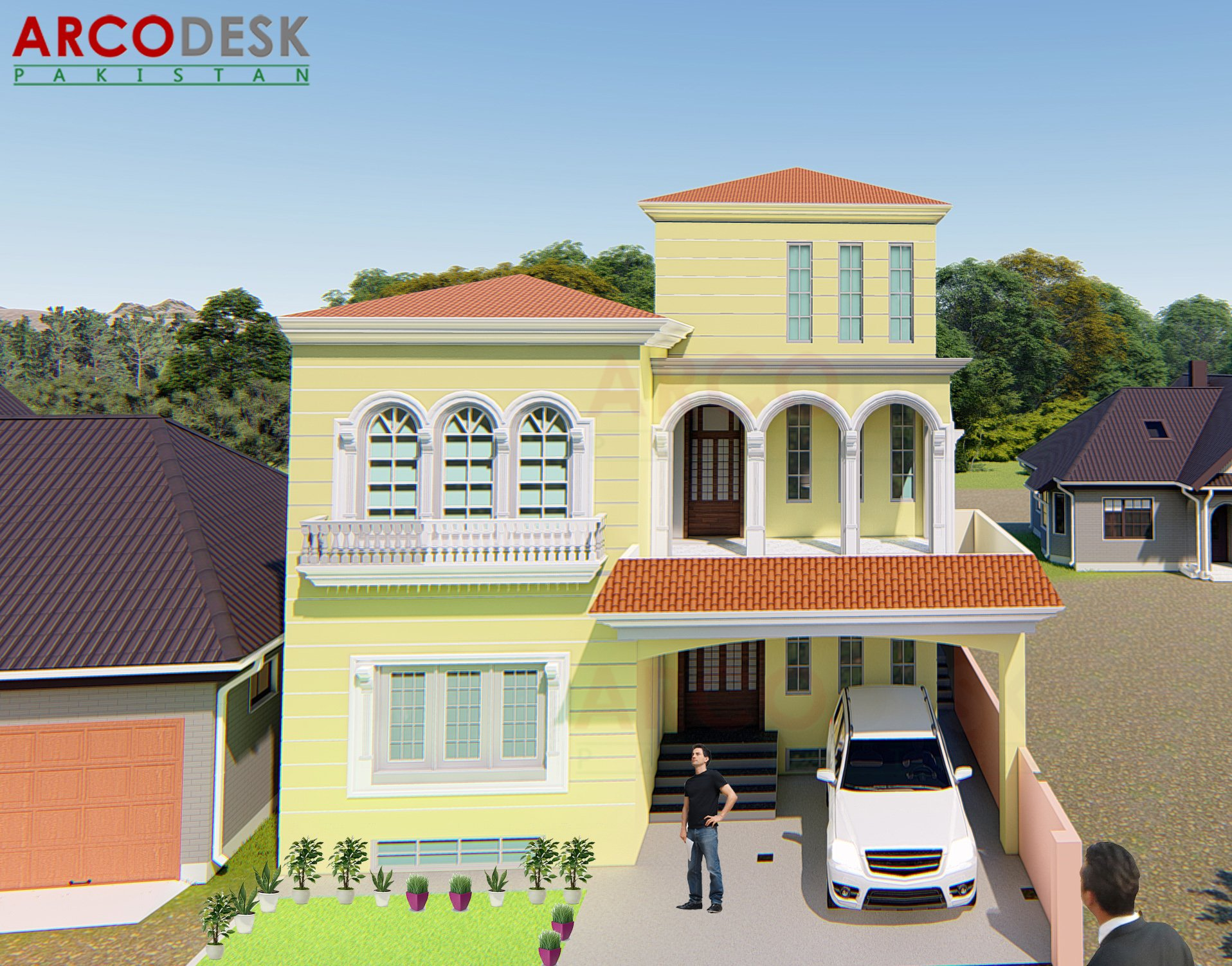 10 Marla Spanish House Design at Park City Mardan, KPK