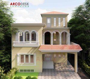 10 Marla Spanish House Design in Mardan KPK