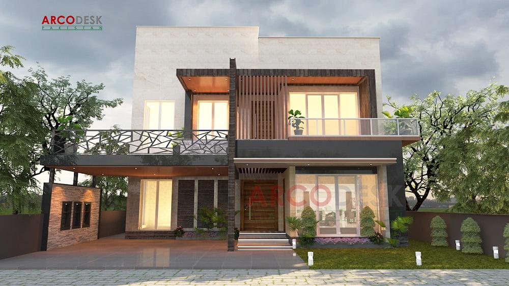 1 Kanal Modern House Design at DHA Phase 5 Islamabad